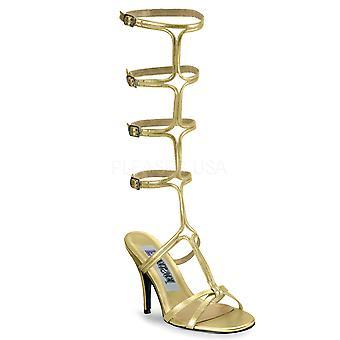 Funtasma Ropa y Accesorios > Disfraces y Accesorios > Zapatos de Vestuario > Mujeres ROMAN-10 Oro Pu