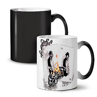 Dice Poker Card NEW Black Colour Changing Tea Coffee Ceramic Mug 11 oz | Wellcoda
