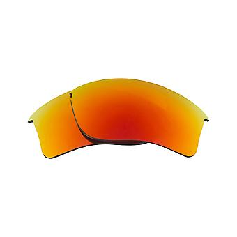 SeekOptics Replacement Lenses for Oakley Quarter Jacket Red Mirror UV400 Non-Polarized Polycarbonate