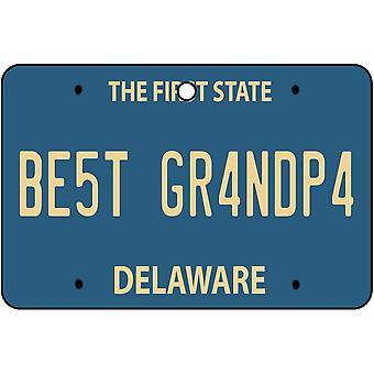 Delaware - Best Grandpa License plaque voiture assainisseur d'Air