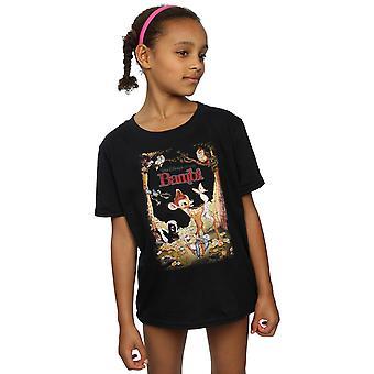 Disney flickor Bambi Retro affisch T-Shirt