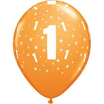 Qualatex 11 Inch Multicoloured Latex Birthday Number Balloons (Age 1-100)