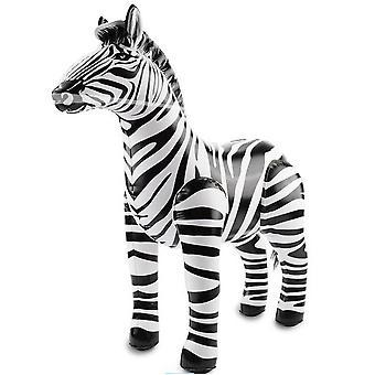 Aufblasbares Zebra Aufblastier Dschungel Aufblaszebra 60x55 cm