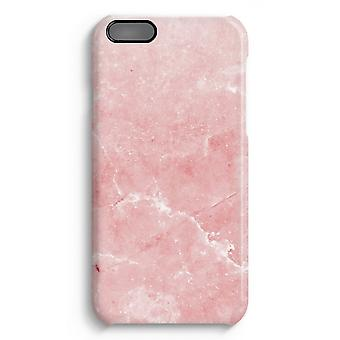 iPhone 6 Plus Full Print Fall (glänzend) - rosa Marmor