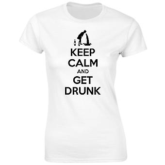 Keep Calm And Get Drunk Womens T-Shirt 8 Colours (8-20) by swagwear