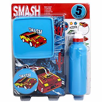 Smash Childrens/Boys Exhaust 5 Piece Lunch Set