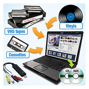 QuickCapture VHS/Tape/Vinyl naar DVD/CD Converter