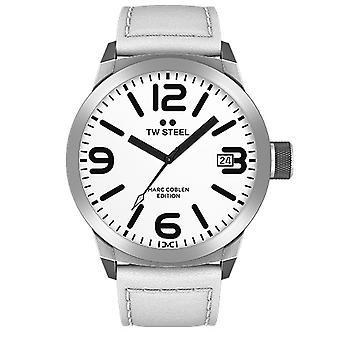 TW stål herre se Marc Coblen Edition TWMC43 wrist watch læder band