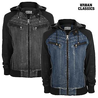 Urban Classics Jacke Hooded Denim Leather