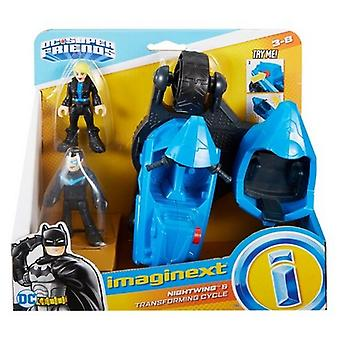 Imaginext DC Super Friends Nightwing & Transforming Cycle