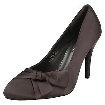 Ladies Anne Michelle Formal Shoe With Side Bow Detail L2892