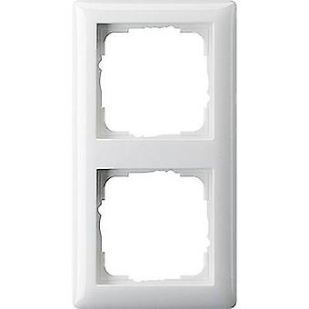 GIRA 2x Frame System 55, Standard 55 Pure white (glossy) 021203
