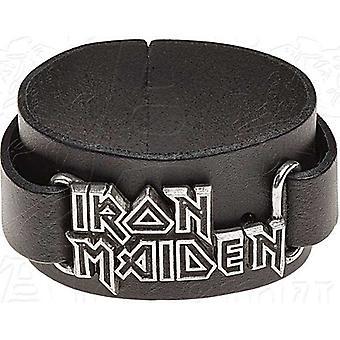 Iron Maiden Logo skórzane Wriststrap