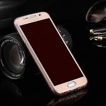 Crystal case cover for Sony Xperia Z5 pink frame full body