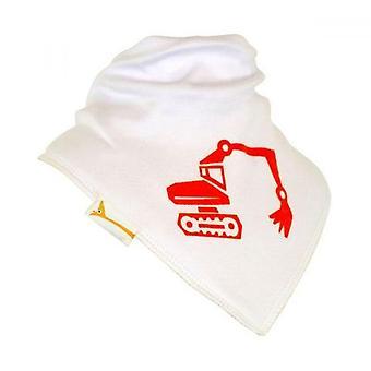 Bavoir bandana blanc & orange digger