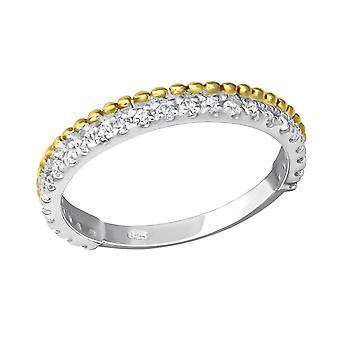 Eternity-925 Sterling hopea kuutio metriä Zirkonia renkaat-W23261X