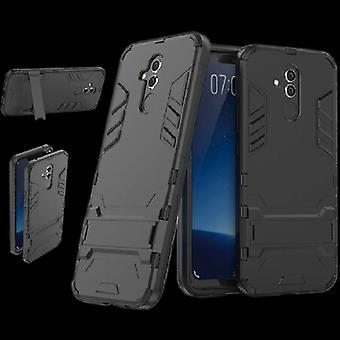 Para Huawei companheiro 20 Lite estilo metal exterior saco preto capa case proteção nova