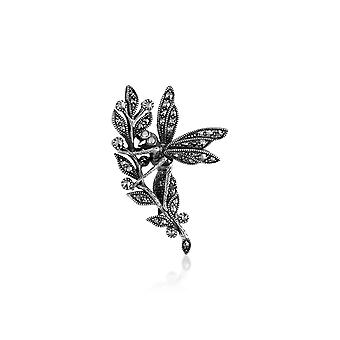 Sterling Silver 0,83 ct markazytu Wasp Design Broszka