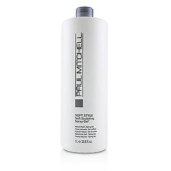 Paul Mitchell Soft Style Soft sculpting spray gel (natural Hold-Styling Gel)-1000ml/33.8 oz