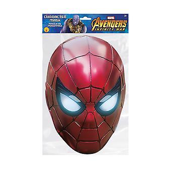 Spider-Man Infinity War Officiële Marvel Single 2D Card Party Fancy Dress Mask