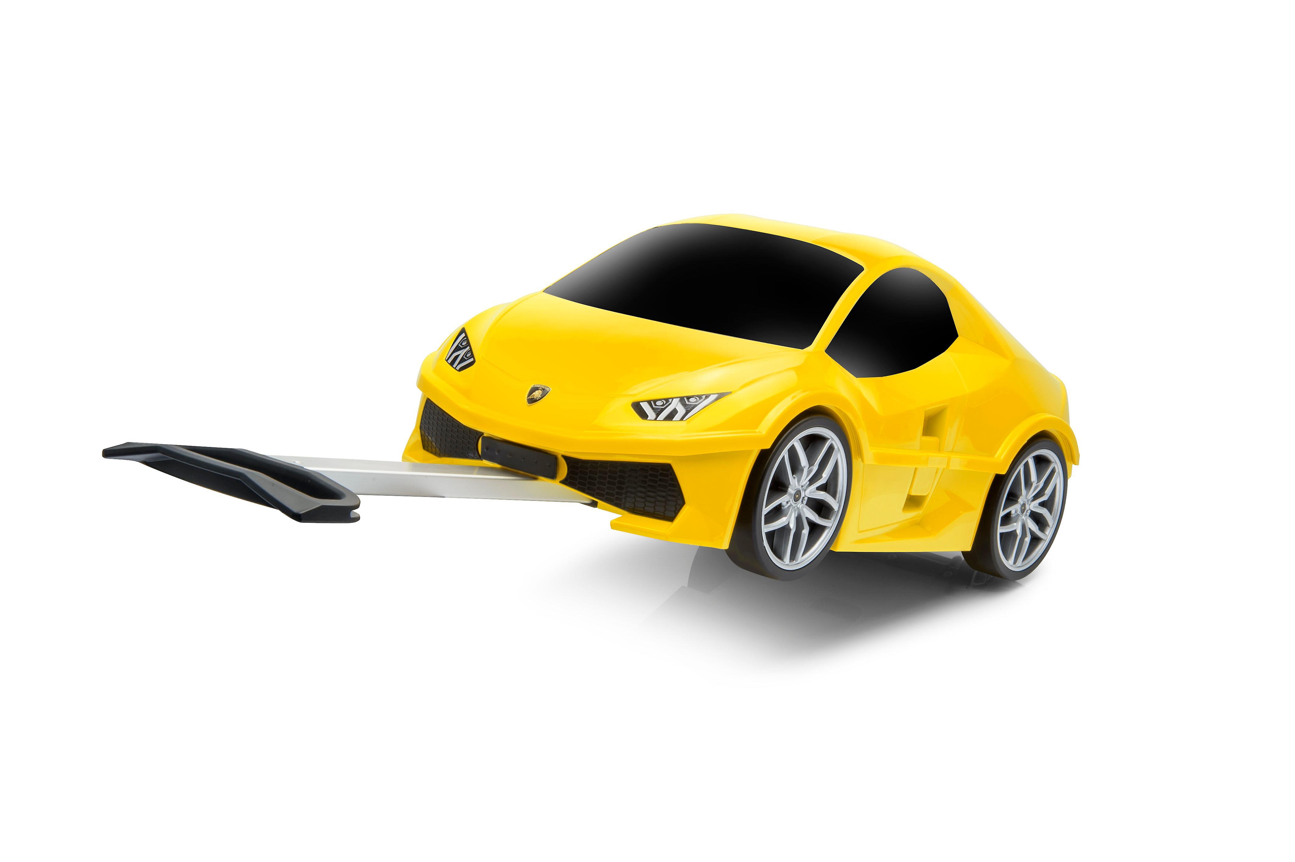Offisielle Lamborghini tigre bil barna trekke langs tilfelle / reise koffert - gul