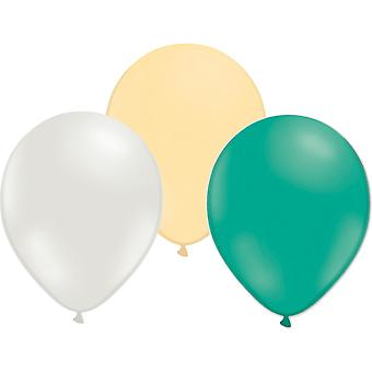 Balloons 24-pack emerald green/Ivory/White