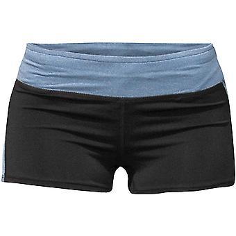 Bad Girl Logo Shorts - Black/Blue Marl