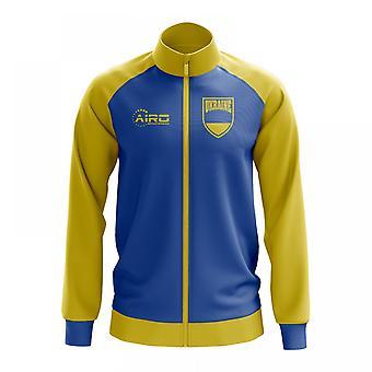 Ukrainan käsite jalkapallo Track Jacket (sininen)