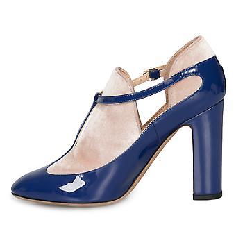 Valentino caviglia cinturino blocco tacchi a Lapis blu
