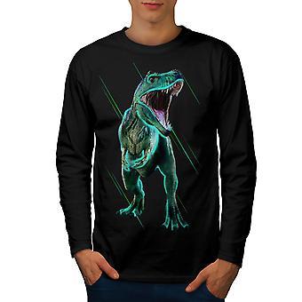 Dinosaurio Jurásico de TRex hombres camiseta de manga BlackLong | Wellcoda