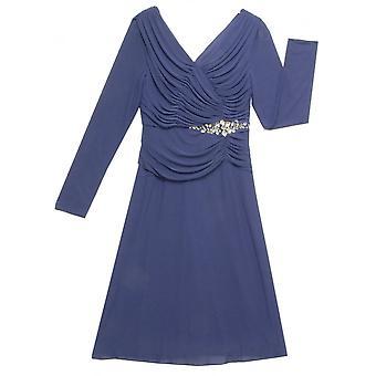 GINA BACCONI Dress 2118 Blue