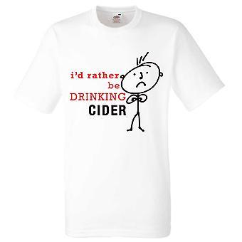 Mens I'd Rather Be Drinking Cider White Tshirt
