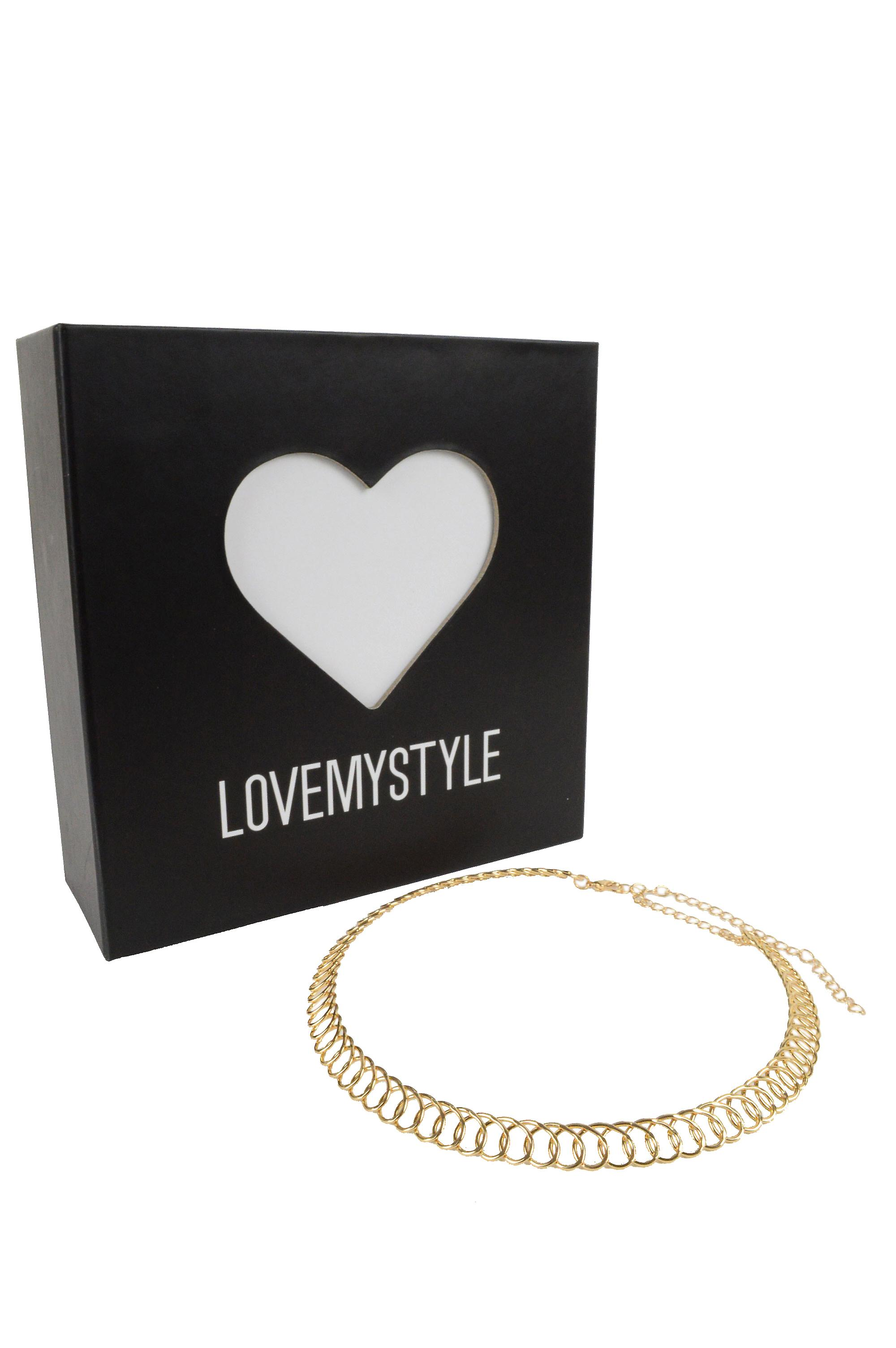 Lovemystyle Twisted Spring Choker In Plastic Gold