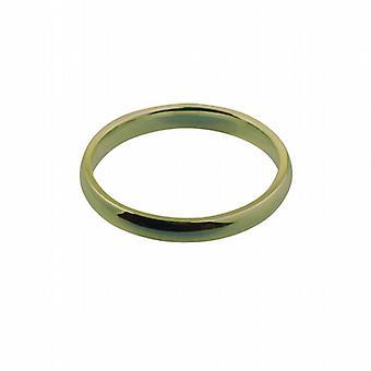 18ct guld 3mm almindelig domstol formet Wedding Ring størrelse Z