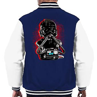 Original Stormtrooper Imperial TIE Pilot Red Burst Men's Varsity Jacket