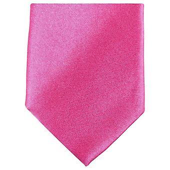 Knightsbridge kaulavaatteita Slim Polyesteri Tie - vaaleanpunainen