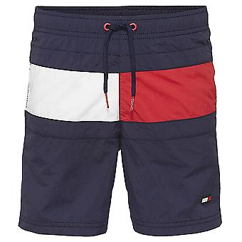 Tommy Hilfiger Boys Core Flag Drawstring Swim Shorts, Navy Blazer, XX-Large
