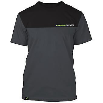 MusclePharm Mens MP Two Tone T-Shirt - Gray/Black - gym fitness