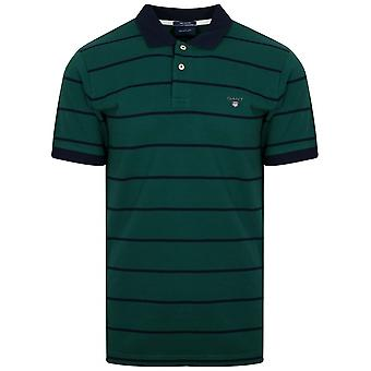 GANT Ivy grün gestreift Polo Shirt