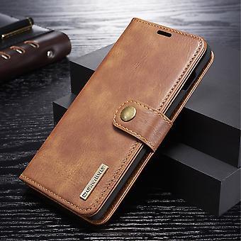 Dg. MING Samsung Galaxy S10 + Split leather wallet Case-brown