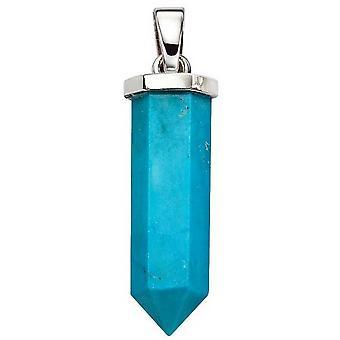 Commencements magnésite pilier pendentif - bleu
