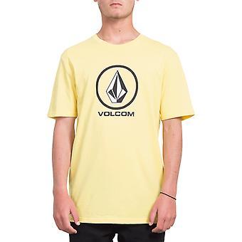 Volcom كريسب ستون قصيرة الأكمام تي شيرت باللون الأصفر