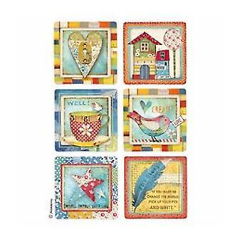 Stamperia carta di riso A4 Patchwork carte (DFSA4332)