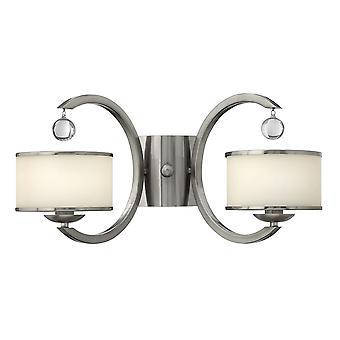 Stead-2 Light Indoor Wall Light Brushed Nickel-HK/MONACO2