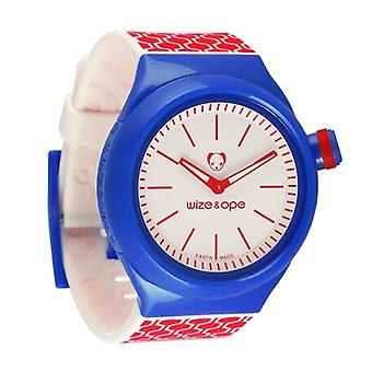 Wize and Ope Geometry Blue and Red Shuttle watch SH-GEO-2
