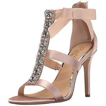 BADGLEY MISCHKA Womens mischka Leather Open Toe Formal Strappy Sandals