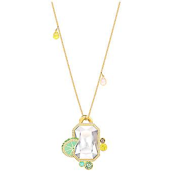 Swarovski No Regrets Pendant - Multi-coloured - Gold Plating