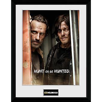 Le Walking Dead Rick et Daryl encadré Collector impression 40x30cm