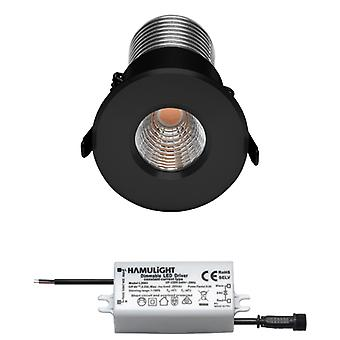 Citizen LED Encastré Spotlight (fr) Noir Blanc chaud 7 Watts ( france Graduable