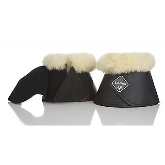 LeMieux Lemieux Lambskin Wrapround over REACH Boots-zwart/naturel